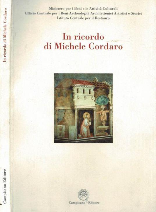 In ricordo di Michele Cordaro - copertina