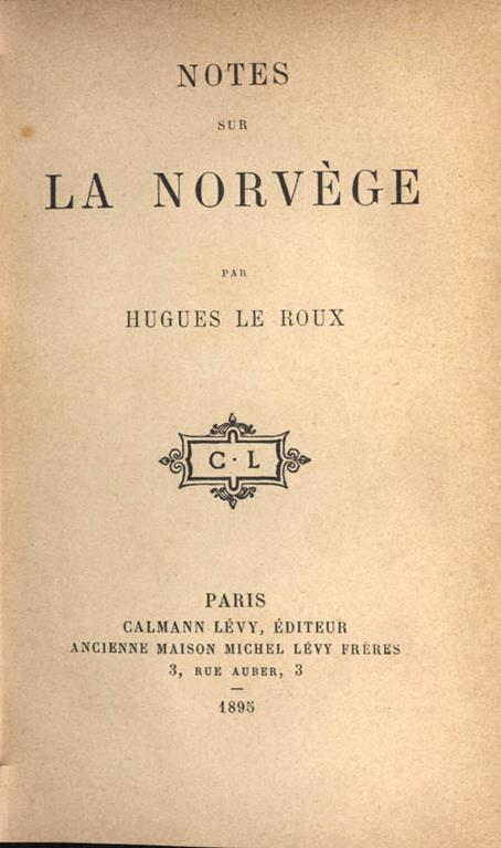 Notes sur la Norvége - Le Rou - copertina