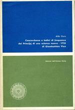 Concordanze e Indici di Frequenza dei Principi di Una Scienza Nuova -1725. di giambattista vico