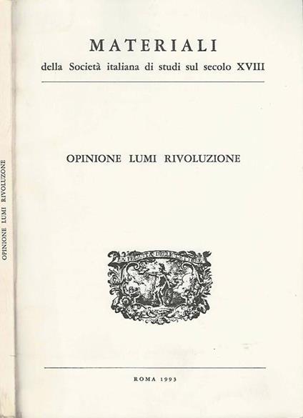 Opinioni Lumi Rivoluzione - Alberto Postigliola - copertina