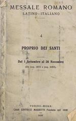 Messale Romano Latino. Italiano (Vol. 4). Proprio Dei Santi