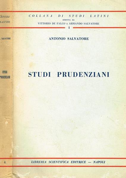 Studi Prudenziani - Antonio Salvatore - copertina