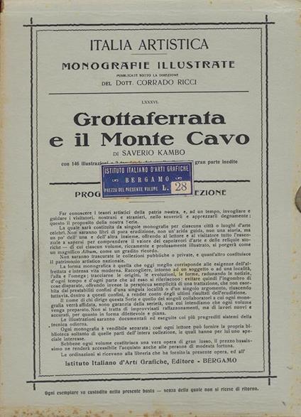 Grottaferrata e il Monte Cavo : i castelli romani - Saverio Kambo - copertina