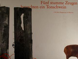 Funf Stumme Zeugen Betrachten Ein Tonschwein. 7192 Jahre Begegnung Im Museum. Hessisches Landesmuseum Darmstadt - copertina