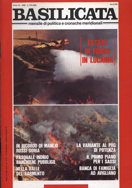 Basilicata Anno 30 n. 7 - 9. Mensile di politica e cronache meridionali - copertina