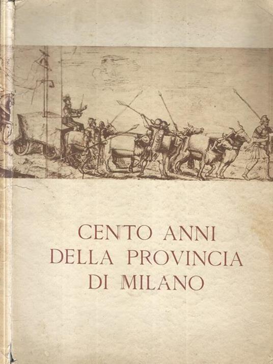 Cento anni della provincia di Milano - copertina