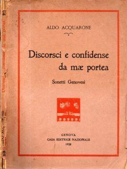 Discorsi e confidense da mae portea. Sonetti Genovesi - Aldo Acquarone - copertina