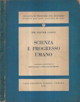 Scienza e progresso umano - Oliver Lodge - copertina