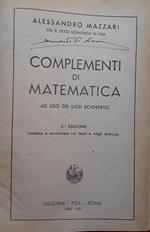 Complementi di matematica ad uso dei licei scientifici