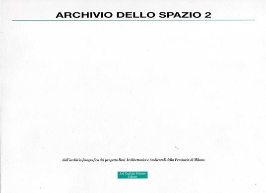 Archivio dello spazio: 2 - Anna Sacconi - copertina