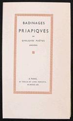 Badinages Priapiques De Quelques Poetes Anciens