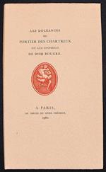 Les Doleances Du Portier Des Chartreux Ou Les Conseils De Dom Bougre
