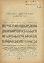 Osservazioni su Quitte pour la peur di Alfred de Vigny