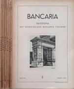 Bancaria-Rassegna dell'Associazione bancaria italiana, Anno VIII, 5,67,8,9,10, 1952