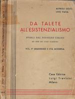 Da Talete all'esistenzialismo Vol. II