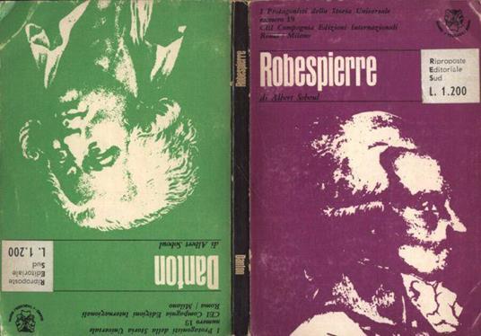 Robespierre - Danton - Albert Soboul - copertina