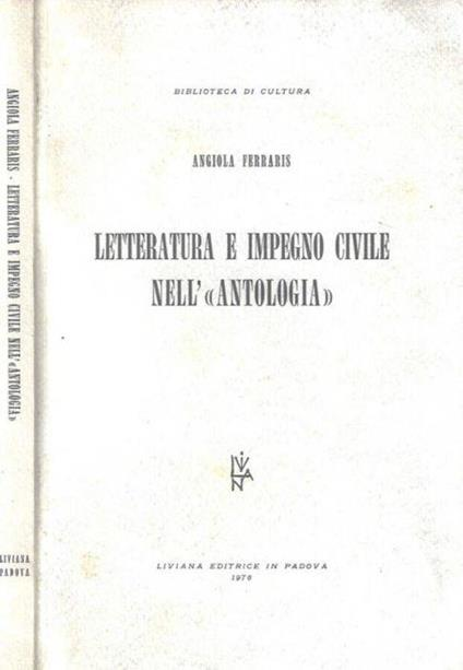 Letteratura e impegno civile nell'antologia - Angiola Ferraris - copertina