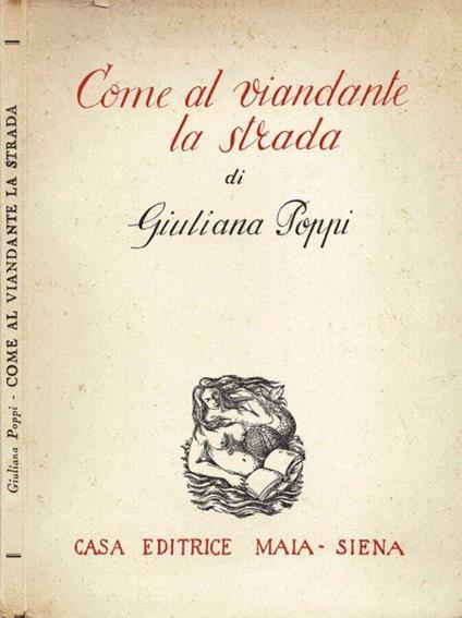 Come al viandante la strada di: Giuliana Poppi - copertina