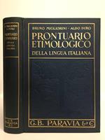 Prontuario etimologico della lingua italiana. Terza edizione