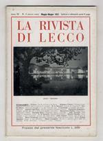 RIVISTA di Lecco. Anno XI. 1952. Nn. 1 (gennaio), 2 (marzo-aprile), 3 (maggio giugno), 4 (luglio-agosto), 5 (settembre-ottobre)