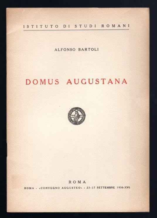Domus Augustana - Alfonso Bartoli - copertina