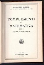 Complementi di matematica per i licei scientifici