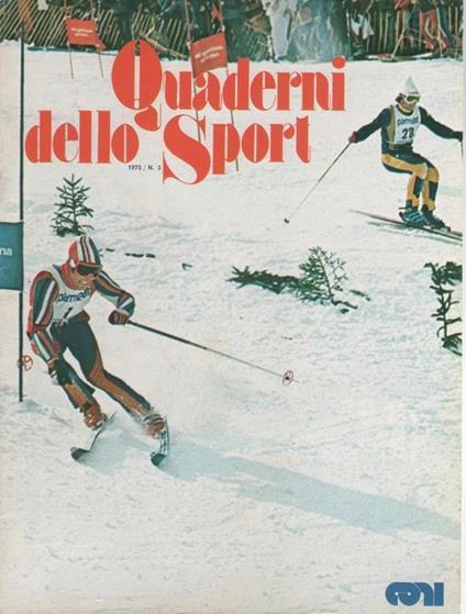Quaderni dello Sport. Rivista ufficiale CONI. 1975 n. 3 - copertina