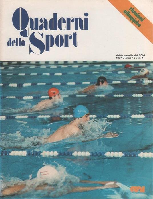 Quaderni dello Sport. Rivista ufficiale CONI. 1977 n. 4 - copertina