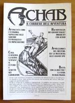 Achab Il Corriere Dell'Avventura - Brochure Pubblicitaria Apribile, 1990 - Rara