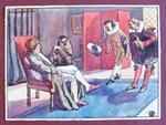 Gil Blas Di Santillana (?) - Tavola Originale Primi '900 In Tempera Firmata Rf(?)