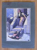 Le Mille E Una Notte (?) - Tavola Originale Primi '900 Firmata Rf(?)