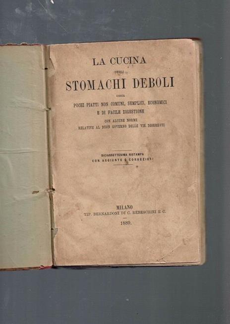 La Cucina Degli Stomachi Deboli  - copertina