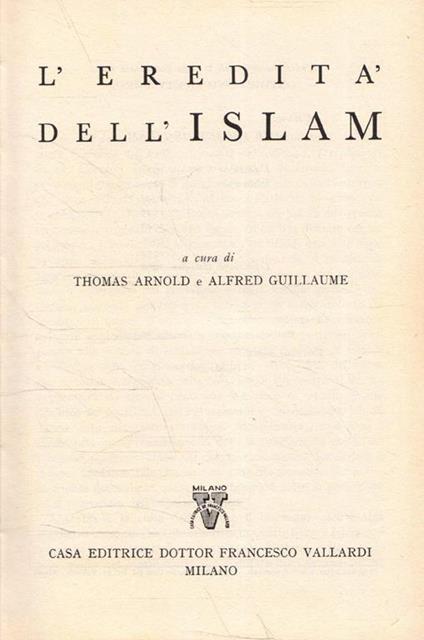 L' eredità dell'Islam - copertina
