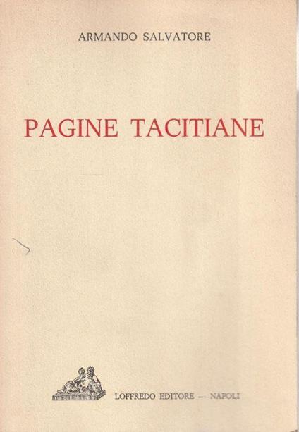 Pagine tacitiane - Antonio Salvatore - copertina