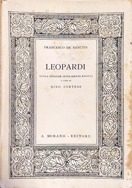Leopardi - Francesco De Sanctis - copertina