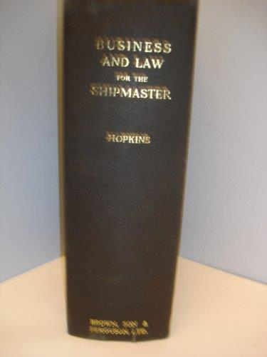 Business and Law for the Shipmaster - copertina