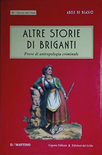 Storie di briganti - Abele De Blasio - copertina