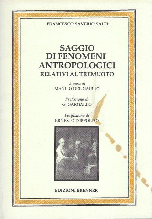 Saggio di fenomeni antropologici relativi al tremuoto - copertina