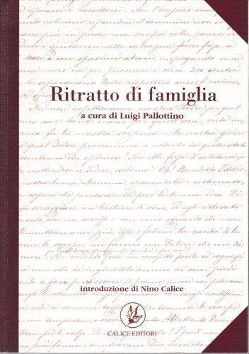 Ritratto di famiglia - Luigi Pallottino - copertina