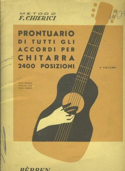 Prontuario di tutti gli accordi per chitarra 2400 posizioni. 1 Volume - copertina