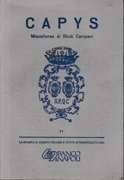 Capys Miscellanea Di Studi Campani-21 - copertina