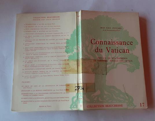 Connaissance du Vatican di: MGR Paul Poupard - copertina