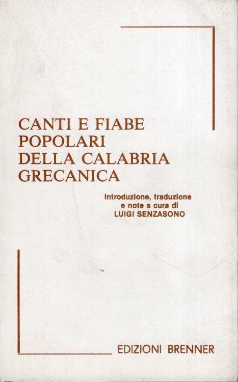 Canti e fiabe popolari della Calabria grecanica - copertina