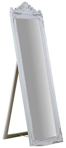 Specchiera Da Terra L40Xpr3Xh140 cm Finitura Bianco Anticato