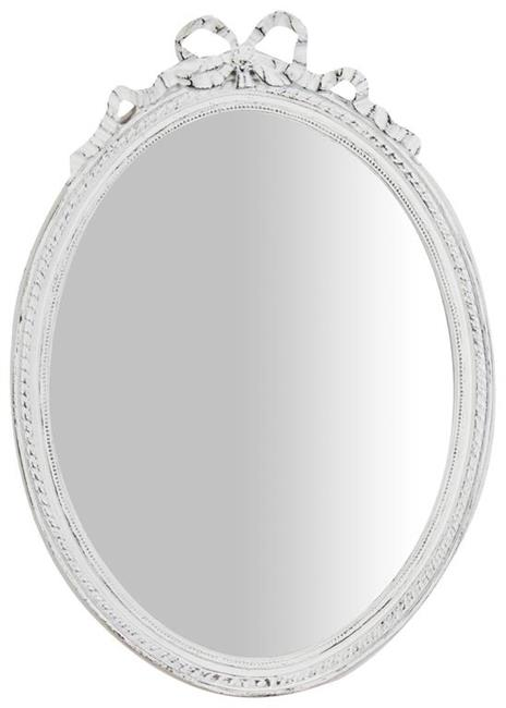 Specchiera da appendere L36xPR3xH50 cm finitura bianco anticato.