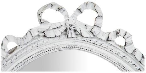 Specchiera da appendere L36xPR3xH50 cm finitura bianco anticato. - 2