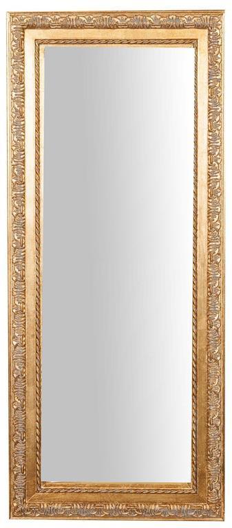 Specchiera da appendere verticale/orizzontale L35xPR2xH82 cm finitura oro anticato.