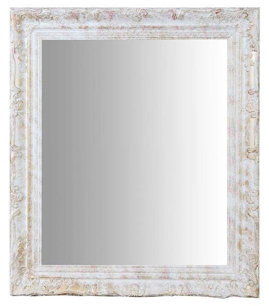 Specchiera da appendere verticale/orizzontale L64xPR4xH74 cm finitura argento anticato.