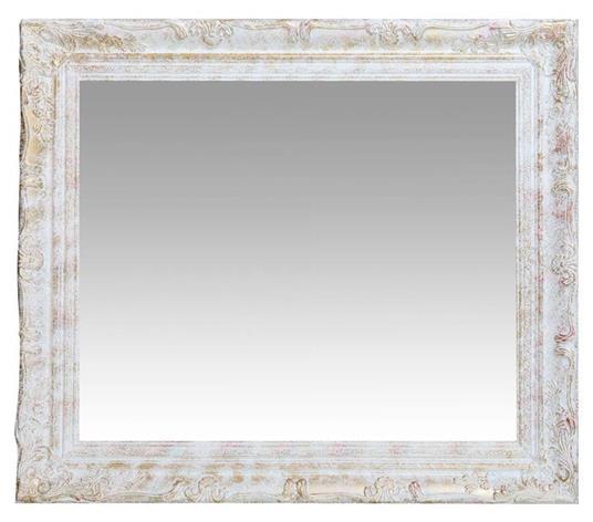 Specchiera da appendere verticale/orizzontale L64xPR4xH74 cm finitura argento anticato. - 2