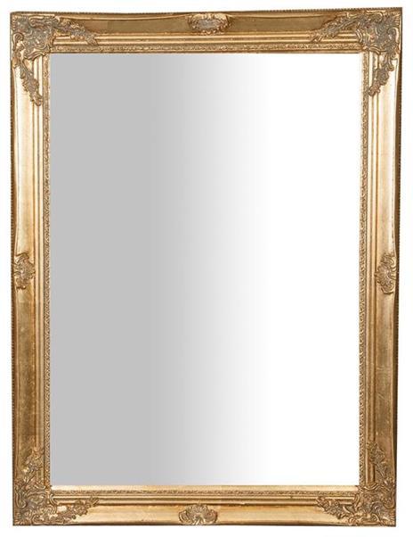 Specchiera da appendere verticale/orizzontale L62xPR3xH82 cm finitura oro anticato.